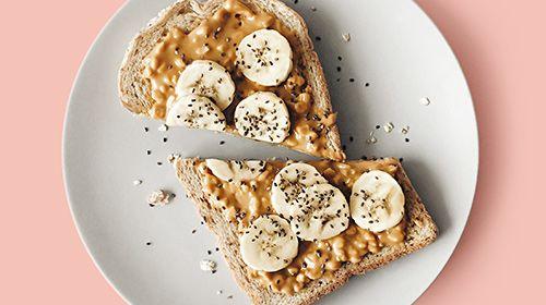 Erdnuss-Bananen Sandwich