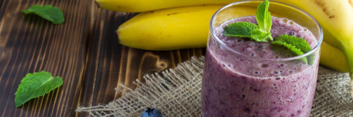whey berry banana smoothie