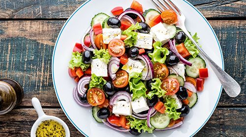 Een makkelijke Griekse salade