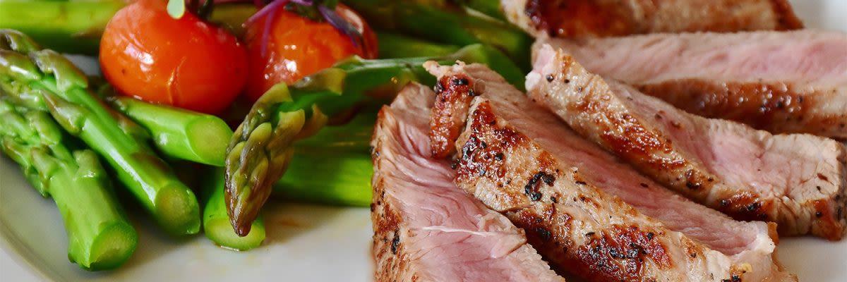 tuna steak en asperges