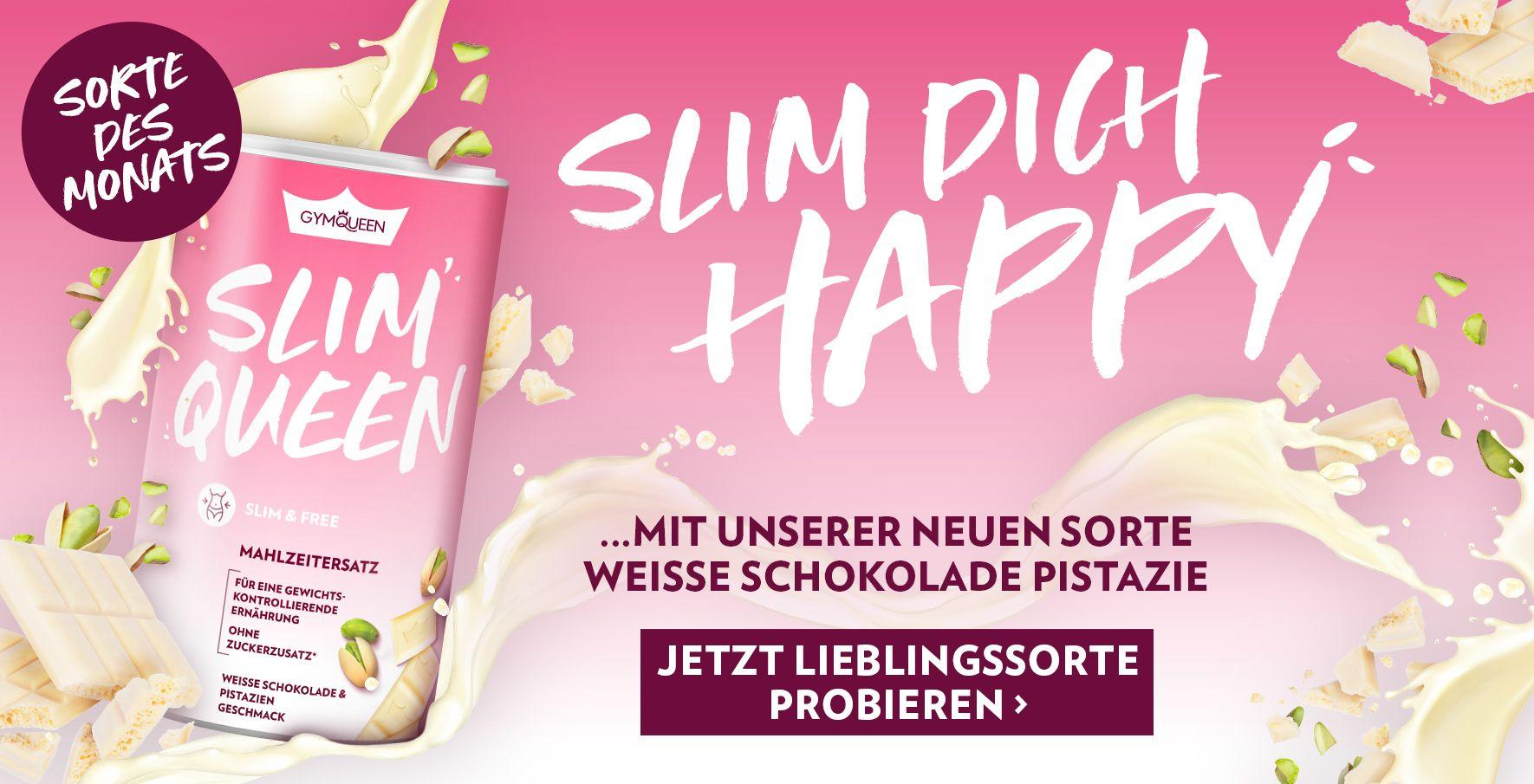 Slim Queen - die Sorte des Monats: Weiße Schokolade Pistazie - So macht Abnehmen Spaß!