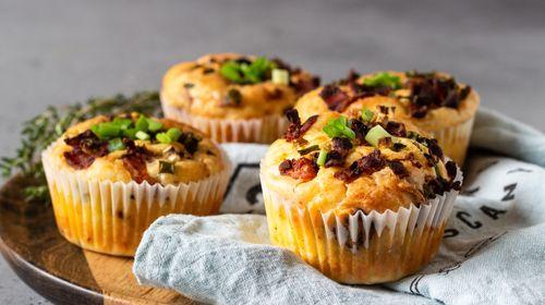 Herzhafte BBQ Muffins mit Mamma Mia Zero Sauce