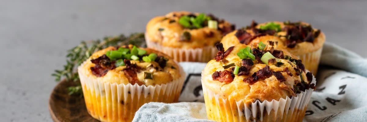 Herzhafte Protein BBQ Muffins