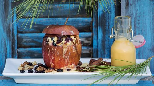 Gegrillter Apfel mit Slim-Vanillesauce