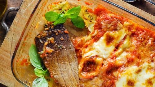 Vegetarische Chia-Vollkorn Lasagne