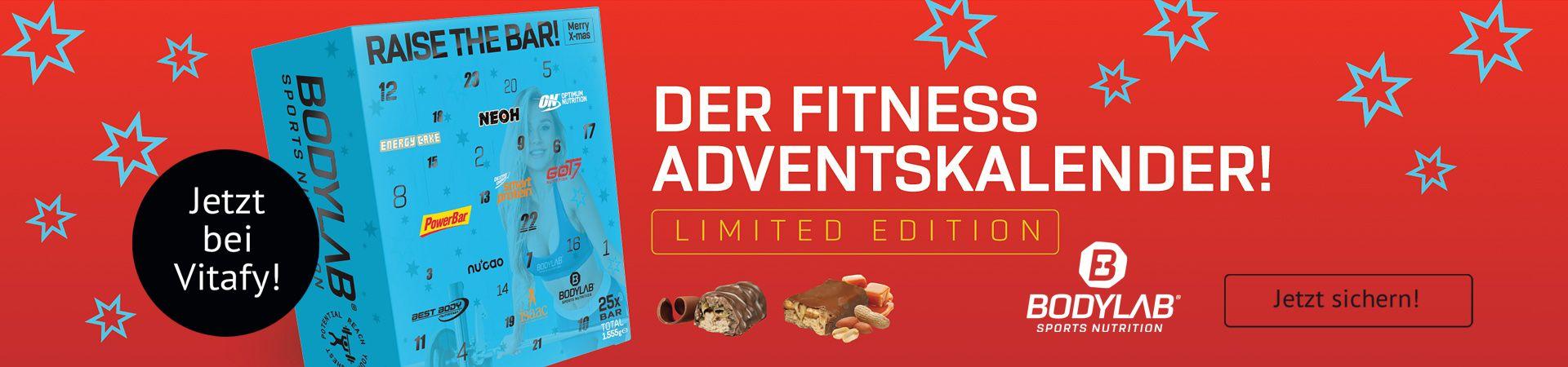 Hol dir jetzt den neuen Bodylab Riegel Adventskalender mit 24 proteinreichen Überraschungen. Nur für kurze Zeit und solange der Vorrat reicht!