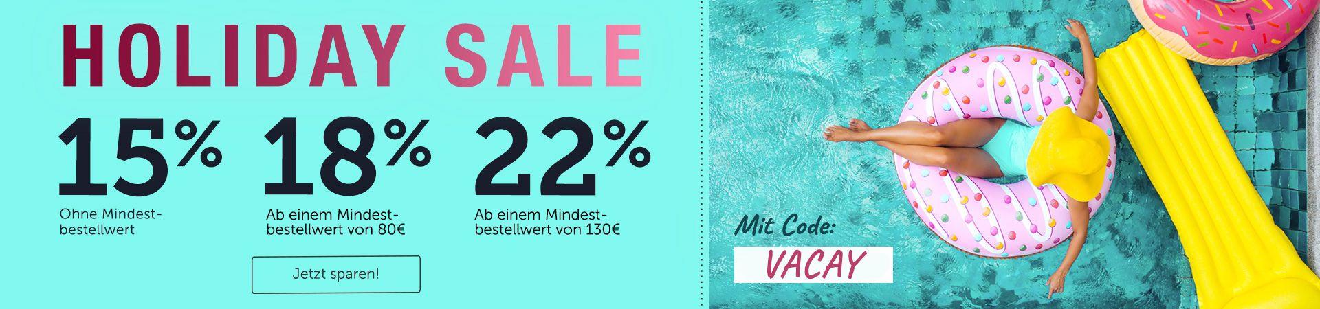 Hol dir jetzt im großen Holiday Sale bis zu 22% Rabatt!