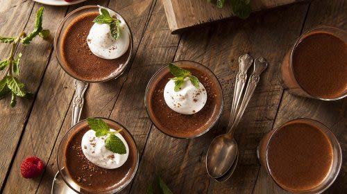 Veganer Mocca-Schoko-Pudding