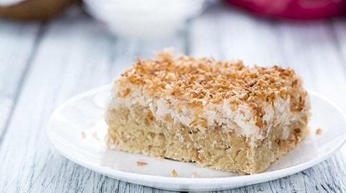 Zuckerfreier Quark-Kokos-Kuchen