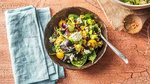 Buntes Hirse-Taboulé mit knackigem Sellerie-Apfel-Salat