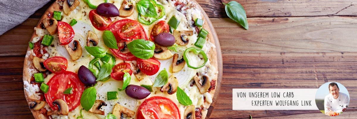 Vegetarische Low Carb Pizza