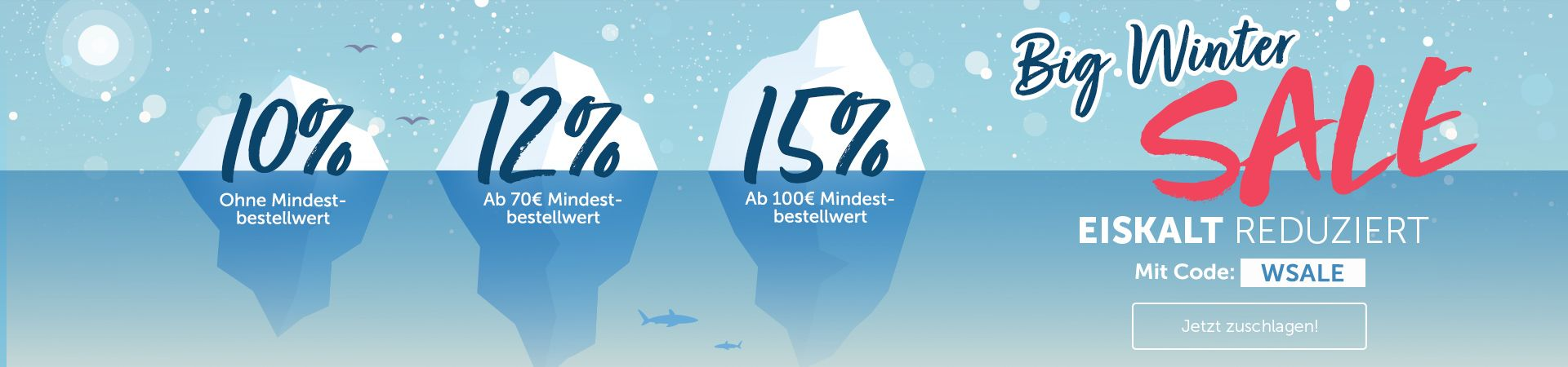 Hol dir jetzt im vitafy Winterschlussverkauf bis zu 15% Rabatt auf Alles!