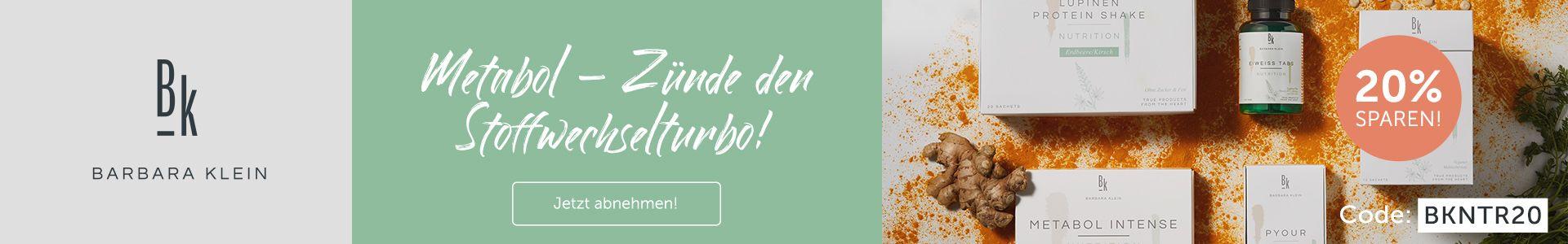 Erlebe Nahrungsergänzung der Extraklasse von Ernährungsexpertin Barbara Klein und sichere dir 20% auf das gesamte BK Nutrition Sortiment!
