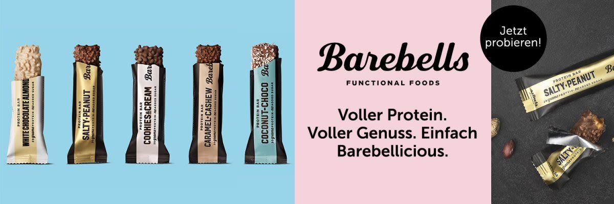 Barebells - Voller Protein. Voller Genuss. Einfach Barebellicious.