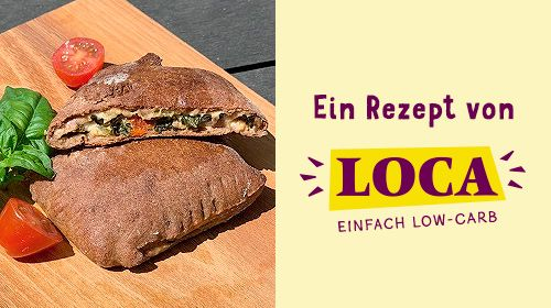 LOCA-leichte Pak-Choi-Feta-Taschen
