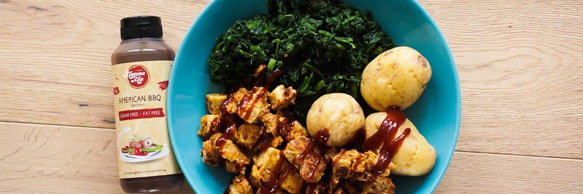 Tofu-Nuggets mit Cornflakespanade
