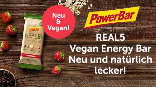 REAL5 Vegan Energy Bar - neu & natürlich lecker!