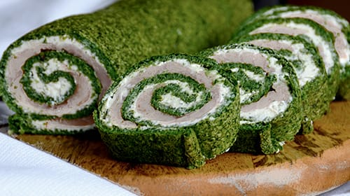 Spinat-Thunfisch-Rolle