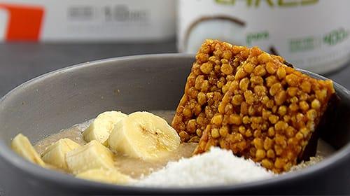 Bananen Karamell Haferflocken
