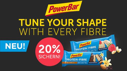 Der neue PowerBar Protein + Fibre – mit dem Plus an Ballaststoffen