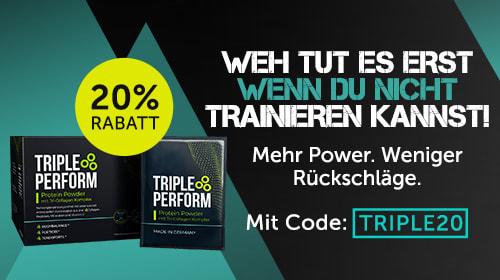 TRIPLE PERFORM – Protein Powder mit Tri-Collagen Komplex