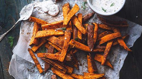 Süßkartoffelpommes - Knusprig & kalorienarm