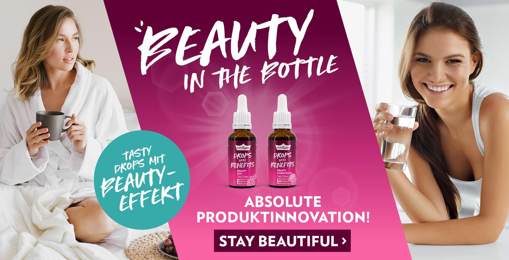 NEU: Drops with Benefits Beauty! Für starke, straffe Haut, gesundes Haar und starke Nägel!