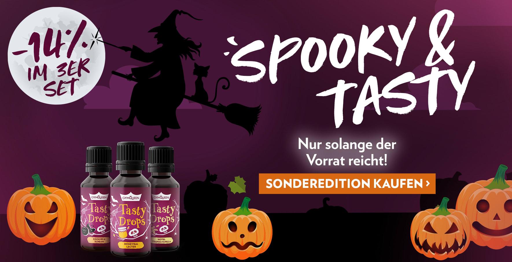 Special Editions zu Halloween: entdecke die leckeren 3 Halloween-Sorten. Ohne Kalorien - ohne Zucker - ohne Fett
