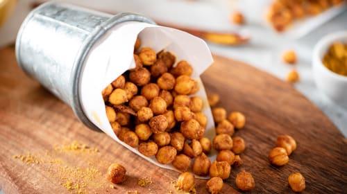 Krosse Kichererbsen - eine proteinreiche Alternative zu herkömmlichen Chips