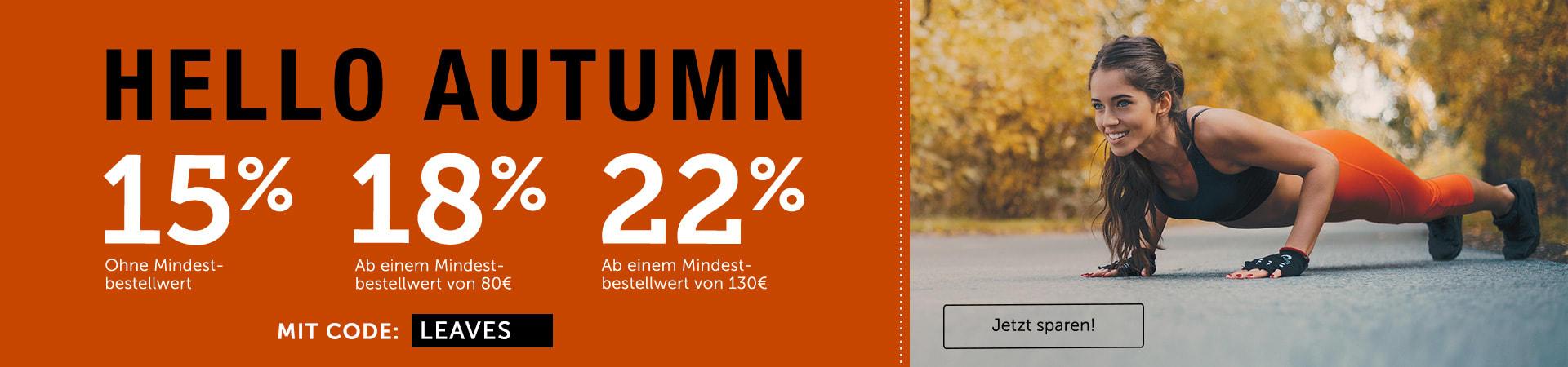 Komm mit uns in Herbststimmung und sichere dir bis zu 22% Rabatt auf Alles!