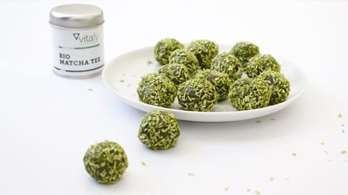 Matcha Kokos Energy Balls