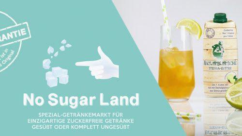 No Sugar Land - die größte Auswahl für einzigartige, innovative und 100% zuckerfreie Getränke