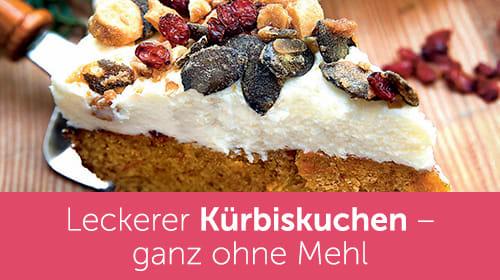 Saftiger Kürbiskuchen ganz ohne Mehl - aus dem Xucker Backbuch