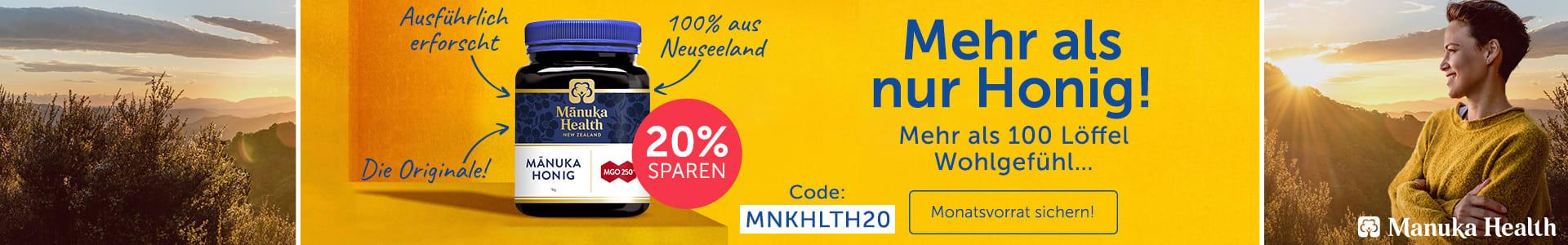 Jetzt 20% auf Manuka Health!
