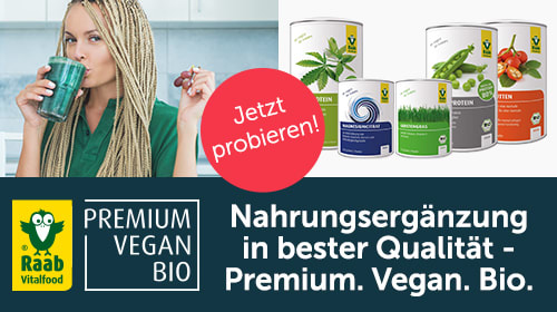 Raab Vitalfood - Pflanzliche Nahrungsergänzung und mehr in bester veganer Bio-Qualität!