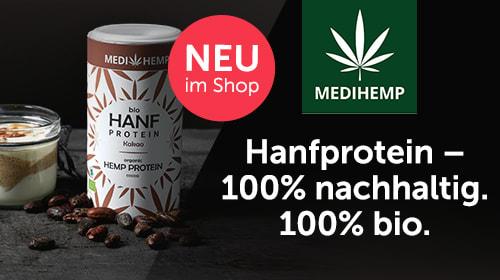 MEDIHEMP - 100% nachhaltiges und legales Hanfprotein!