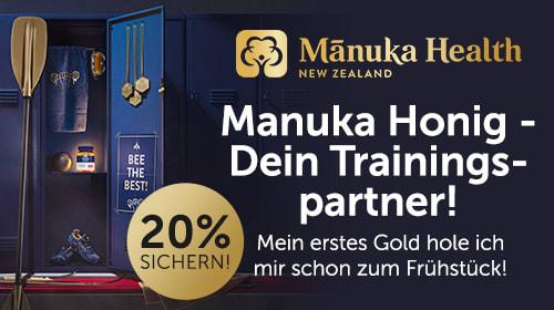 Manuka Health - Wer wie ein Profi trainiert, sollte auch so essen!
