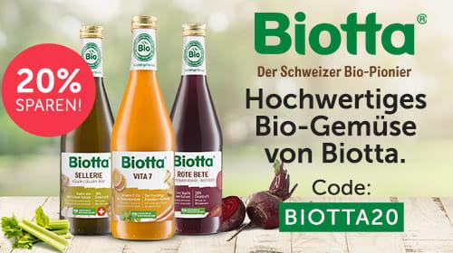 Natürlich gut für mich! Hochwertiges Bio-Gemüse von Biotta!